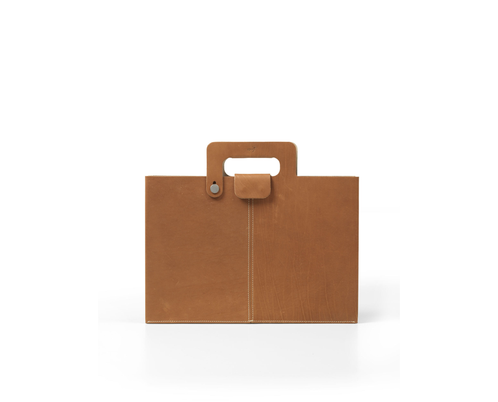 horizontal envelope leather bag