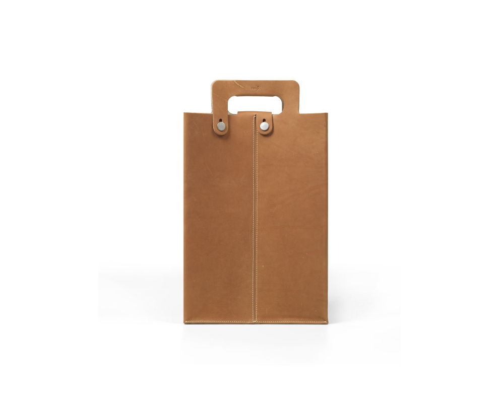 vertical envelope leather bag